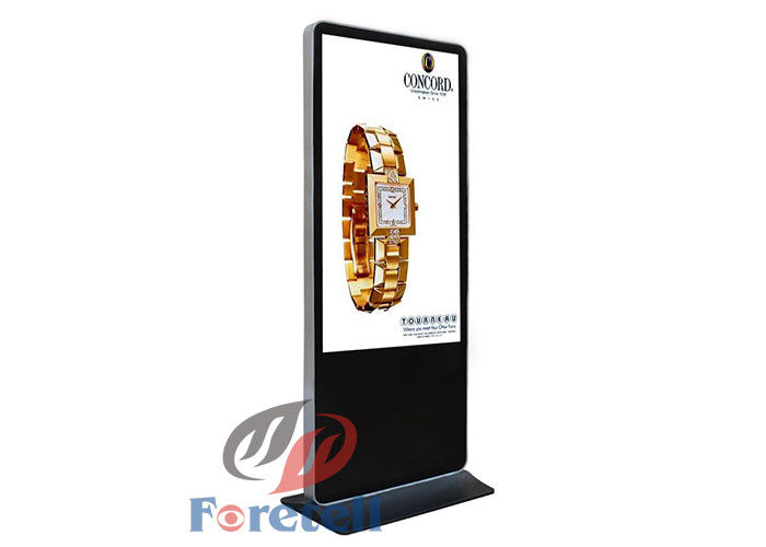 Indoor Free Standing Digital Signage For Banks 55 Inch Digital Advertising Panels