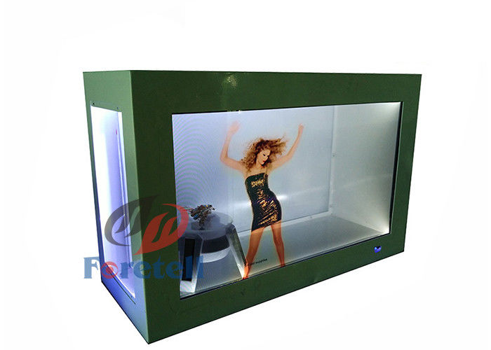 42 Inch Interactive Transparent LCD Display Advertising Case White / Black Color
